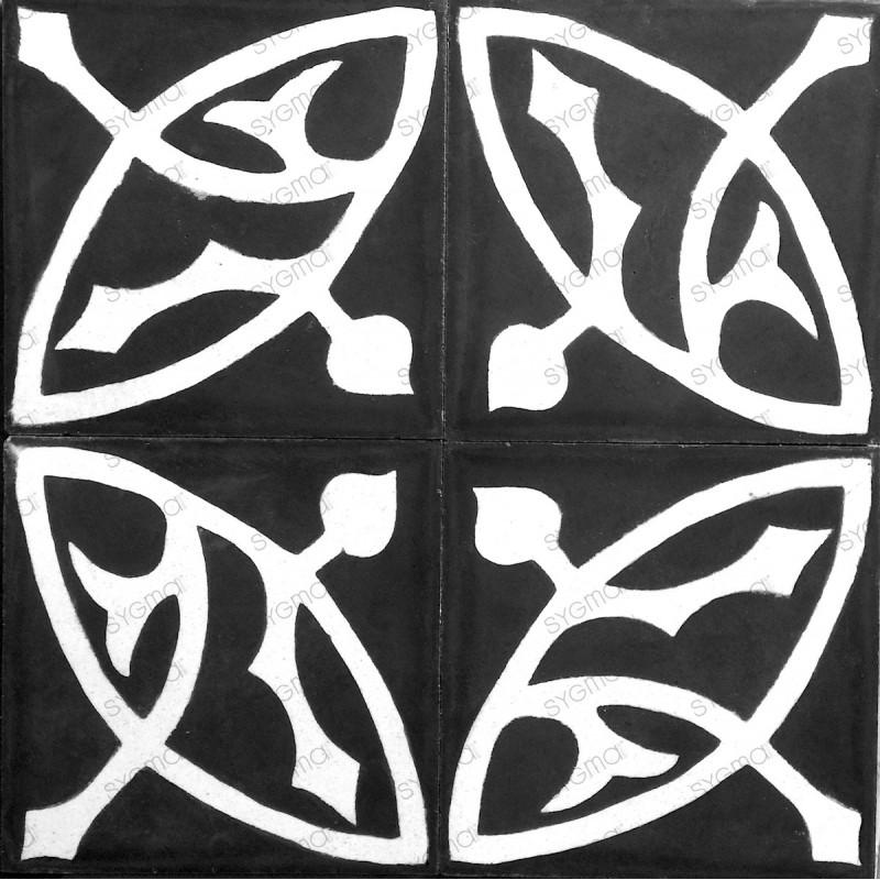 mosaico hidraulico 1m modelo sedra-noir