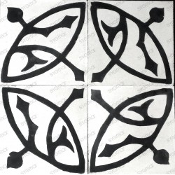 carreau en ciment mur et sol 1m2 modele sedra-blanc