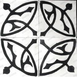 Cement tiles 1sqm model sedra-blanc