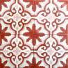 Cement tiles 1sqm model flore-rouge
