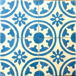 Cement tiles 1sqm model palma-bleu