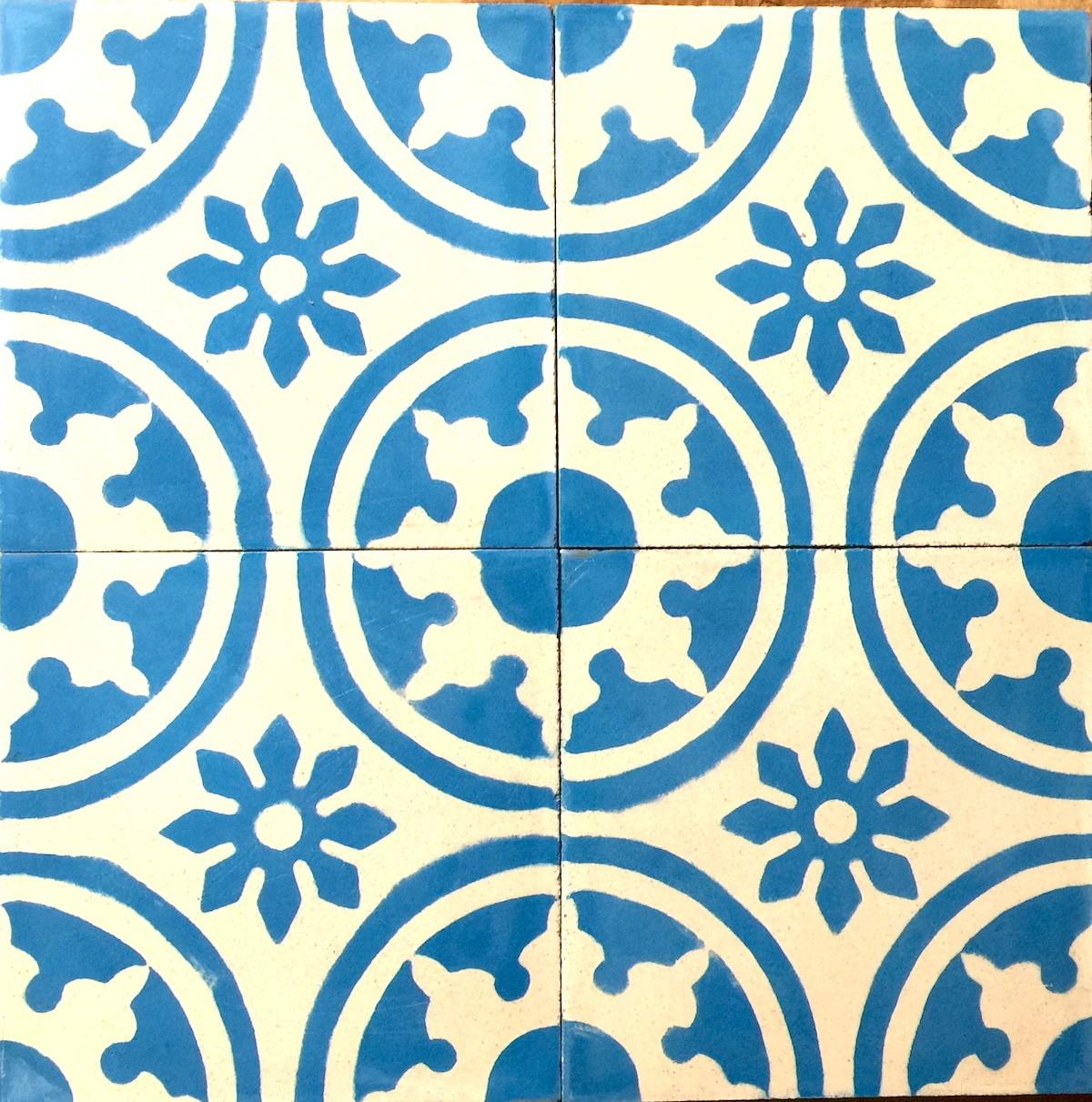 Modèle Carreaux Pour Cuisine carreau ciment cuisine et salle de bain1m modele palma-bleu -  carrelage-mosaique