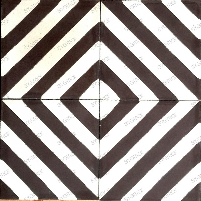 carreaux ciment cuisine sol et mur 1m2 modele chevron marron carrelage mosaique. Black Bedroom Furniture Sets. Home Design Ideas