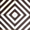 Cement tiles 1sqm model chevron-marron