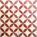 Carreaux ciment 1m2  modele sampa-rouge