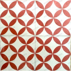 Cement tiles 1sqm model sampa-rouge