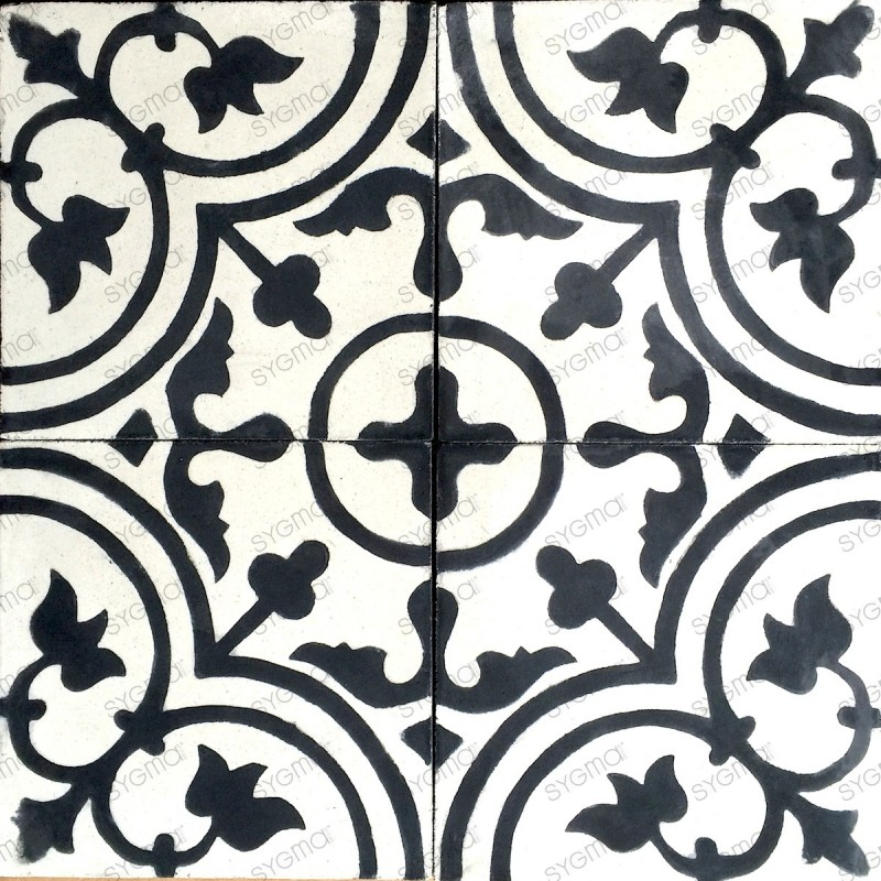 Cement tiles 1sqm model lys-noir