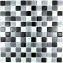 suelo mosaico cristal ducha baño frente cocina noir-mix