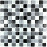 Mosaic tiles glass bathroom shower noir-mix