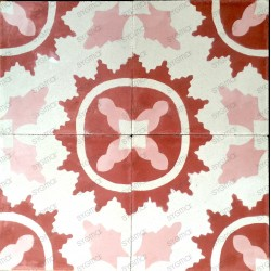 Cement tiles 1sqm model ferret-rouge