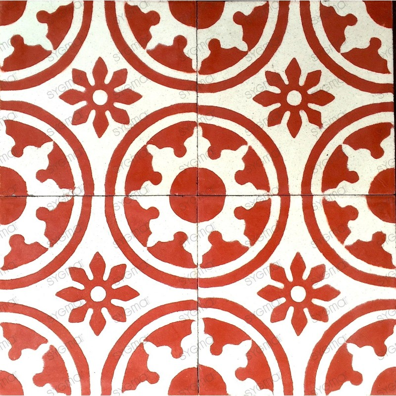mosaico hidraulico 1m modelo palma-rouge