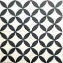 carreaux ciment sol et mur 1m2  modele sampa-noir