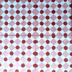 Carreaux ciment pas cher sol et mur 1m2 modele frizy rouge carrelage mosaique - Carreaux ciment pas cher ...