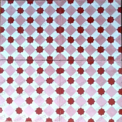 Cement tiles 1sqm model frizy-rouge
