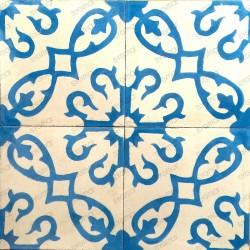 carreaux en ciment 1m2  modele bess-bleu