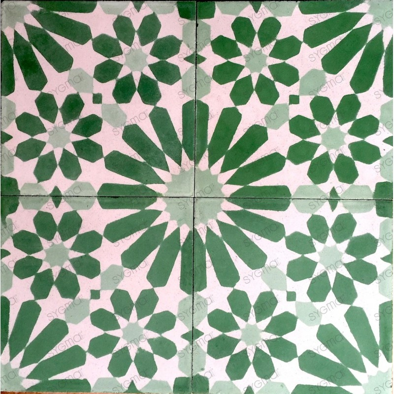 Cement tiles 1sqm model anso-vert