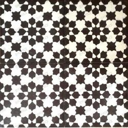 carreaux ciment patchwork 1m2 modele prisma-marron