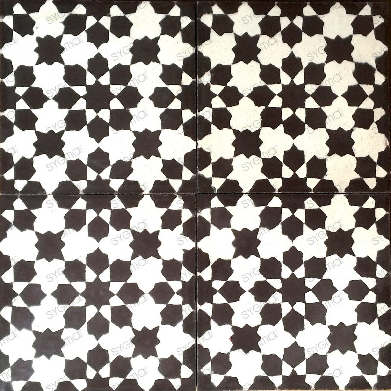 Cement tiles 1sqm model prisma-marron