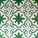 1m2 carreaux ciment  modele flore-vert