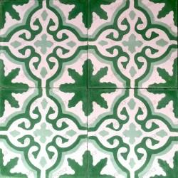 Cement tiles 1sqm model flore-vert