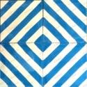 Cement tiles 1sqm model chevron-bleu