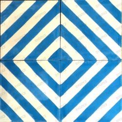 prix carreaux ciment modele chevron-bleu