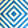 Cement tiles 1sqm model chevron-bleu