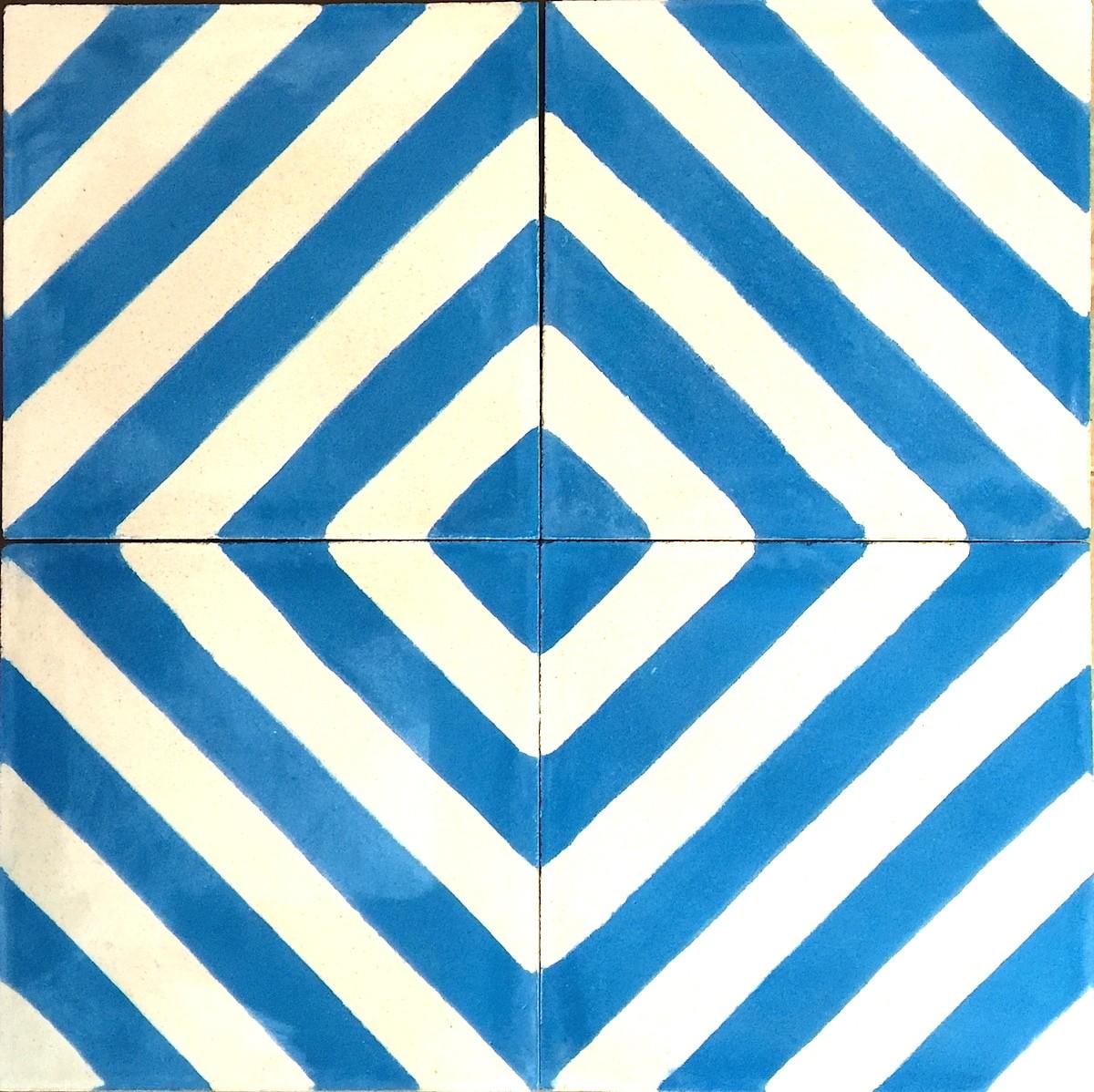 prix carreaux ciment modele chevron-bleu - carrelage-mosaique - Carreaux De Ciment Bleu