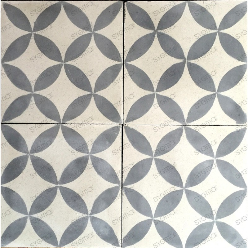 Cement tiles 1sqm model sampa gris carrelage mosaique for Carrelage mural mosaique