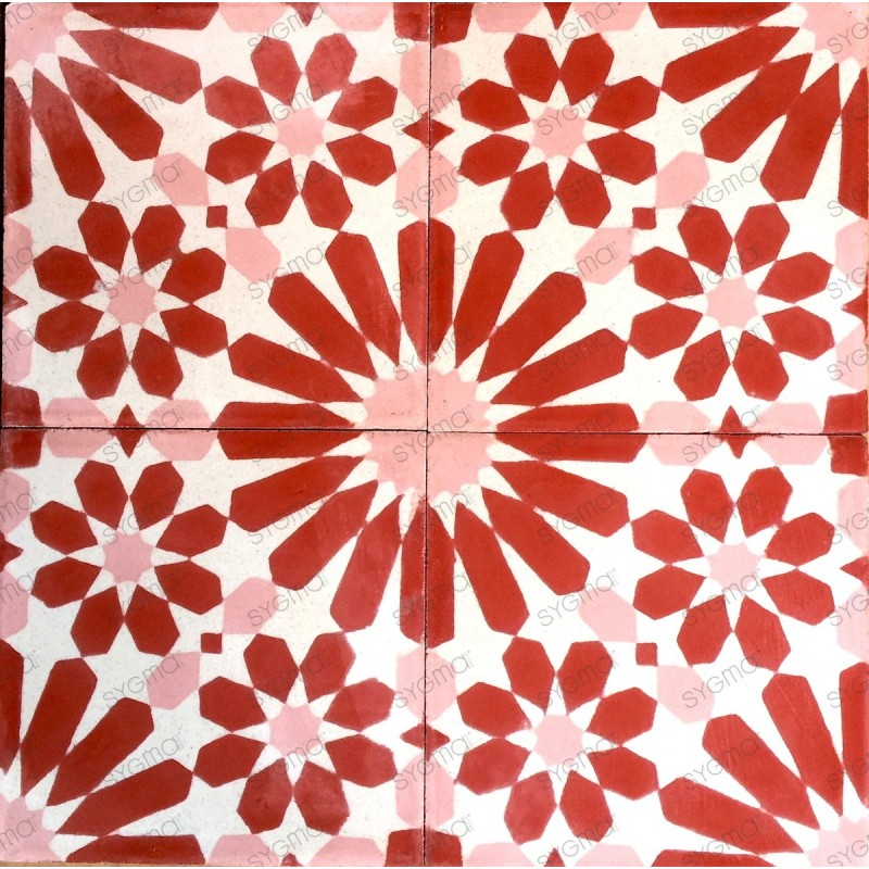 Cement tiles 1sqm model anso rouge carrelage mosaique - Imitation carrelage mural adhesif ...