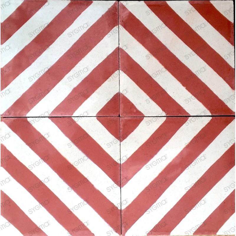 mosaico hidraulico 1m modelo chevron-rouge