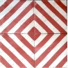 Cement tiles 1sqm model chevron-rouge