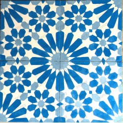 Cement tiles 1sqm model anso-bleu