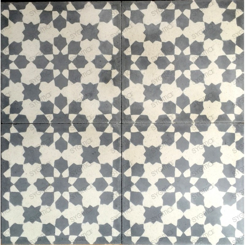 Cement tiles 1sqm model prisma-gris