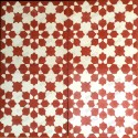 carreaux carrelage ciment 1m2 modele prisma-rouge