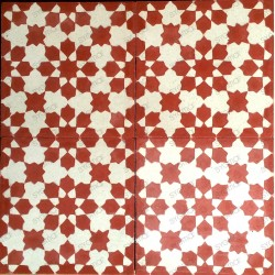 carreaux de ciment 1m2 modele prisma-rouge