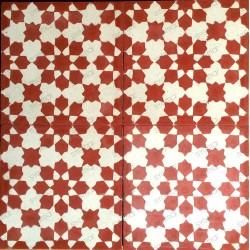 Cement tiles 1sqm model prisma-rouge