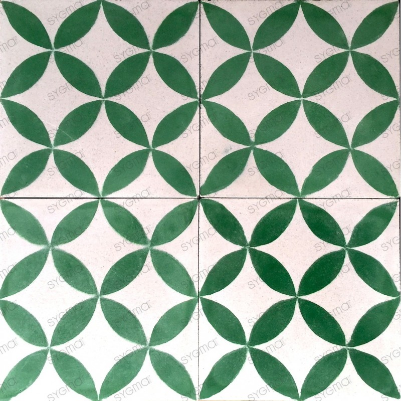 Cement tiles 1sqm model sampa-vert