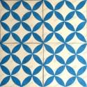 Cement tiles 1sqm model sampa-bleu