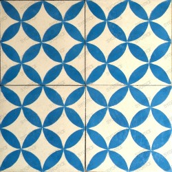 carreaux ciment 1m2 modele sampa-bleu