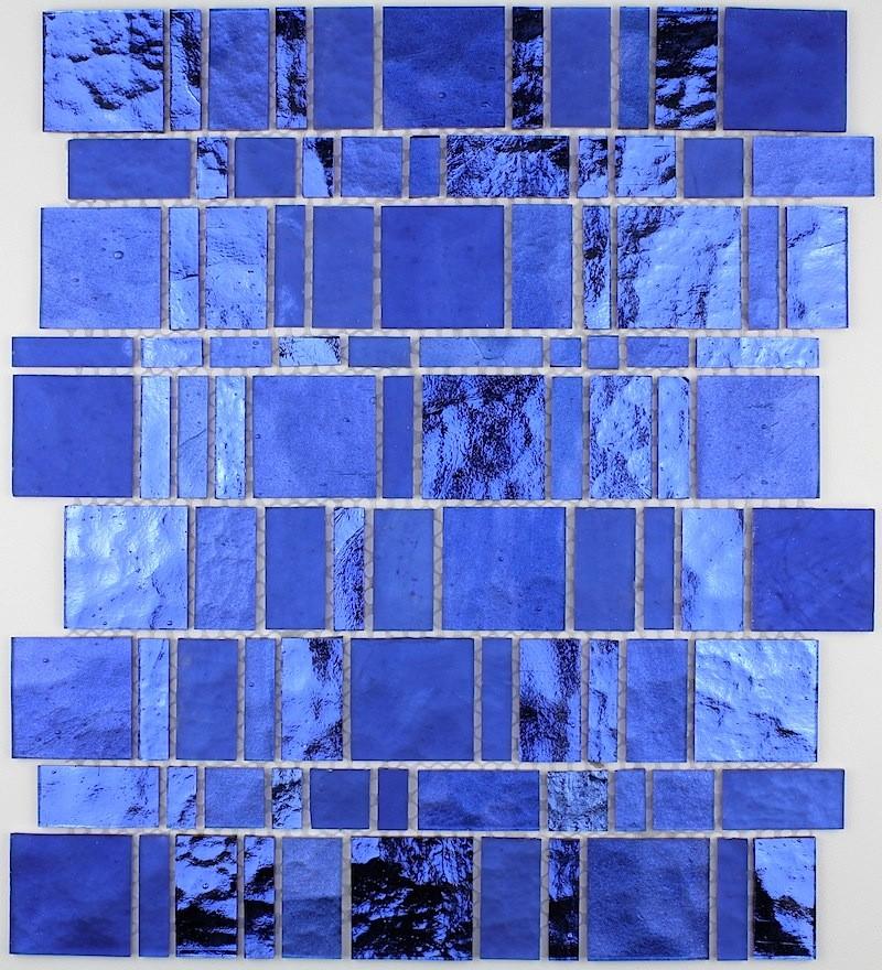 mosaique sol et mur en verre 1m-pulpbleu - carrelage-mosaique