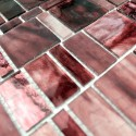 patterned glass mosaic 1m-pulpbordeaux