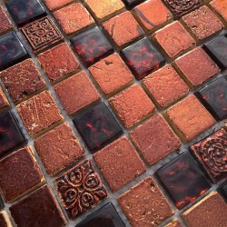 mosaique-salledebain-mettallic-marron