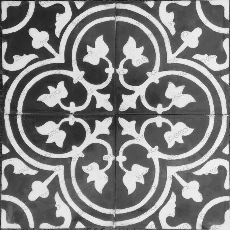 Cement tiles 1sqm model lys-blanc