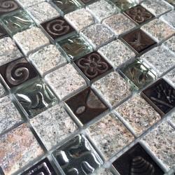 Pared de baño de mosaico y piso mp-stacka