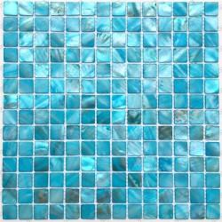azulejo de mosaico de perlas perlas de baño Nacarat Bleu