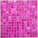 mosaic of Pearl tile shower bath Pearl Nacarat Rose