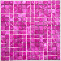 mosaic of Pearl tile shower bath Pearl Nacarat Rose
