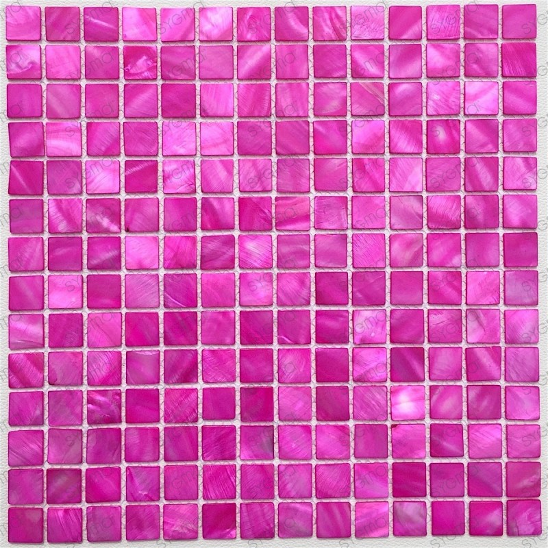 mosaique de nacre pour douche et salle de bain Nacarat Rose