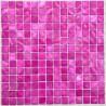 azulejo de mosaico de perlas perlas de baño Nacarat Rose
